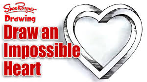 how to draw an impossible heart for valentine u0027s day youtube