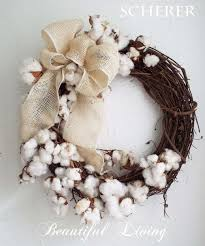 nature cotton wreath grapevine home decor boll wall eco friendly