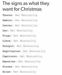 Capricorn Meme - dopl3r com memes the signs as what they want for christmas