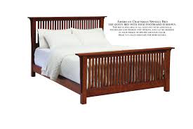 american craftsman spindle bed palettes by winesburg spindle bed with rail footboard