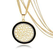 vintage crystal pendant necklace images Tree of life gold plated long vintage crystal multilayer pendant jpg