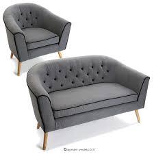 canape design gris ensemble canapé 1 fauteuil design gris yesdeko com