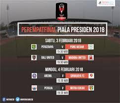 Jadwal Piala Presiden 2018 Jadwal Pertandingan Babak 8 Besar Perempatfinal Piala Presiden