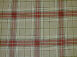 Wool Drapes Wool Tartan Check Red Beige Curtain U0026 Upholstery Fabric The