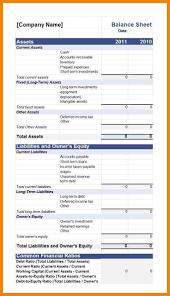 10 balance sheet template addressing letter