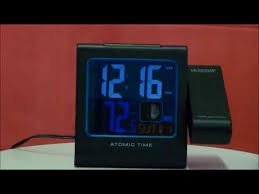 Clock That Shines Time On Ceiling by La Crosse 616 146a Atomic Projection Alarm Clock With Indoor