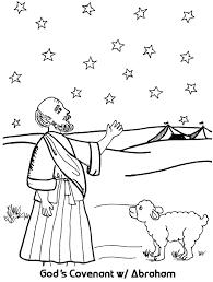 god u0027s covenant with abraham coloring sheet wesleyan kids