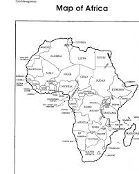 map of africa coloring page coloring pages kids collection