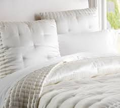 Pottery Barn White Comforter Silk Tufted Quilt U0026 Shams Pottery Barn