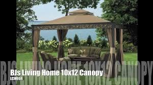 Patio Gazebo 10 X 12 by Bjs Living Home 10x12 Gazebo Replacement Canopy Youtube