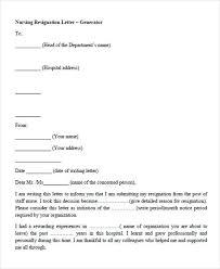 nursing resignation letter nurse resignation letter format