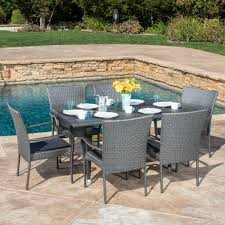 Patio Furniture 7 Piece Dining Set - latitude run marissa outdoor 7 piece dining set u0026 reviews
