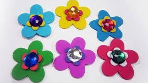 flores de foamy como hacer flores de foami o goma eva manualidades de lina