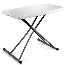 small sturdy folding table amazon com zimmer personal folding table sturdy and durable steel