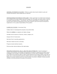 Resume Cashier Example by Cashier Duties And Responsibilities Resume Resume For Your Job