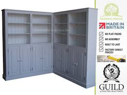 wooden corner bookcase solid wood corner display bookcase with cupboards made to measure