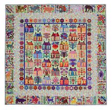 the village from glorious color quilt fabric and kits from