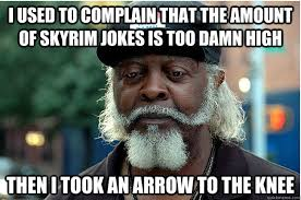 Skyrim Memes And Jokes - i used to complain that the amount of skyrim jokes is too damn