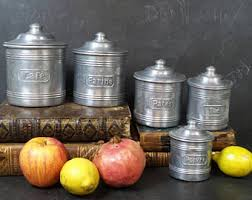 canisters for the kitchen kitchen canisters etsy