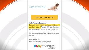 babies registry baby registry email was just a glitch today