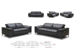 Power Reclining Leather Sofa J M Furniture Gaia Power Recliner Leather Sofa