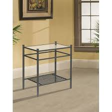 Nightstand Cover Bedroom Metal And Glass Nightstand Kbdphoto Nightstands Easy Home