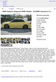 yellow subaru wagon for 12 900 does this wild 2002 subaru impreza wrx work it