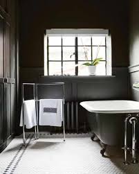 make your bathroom with black frame upvc windows