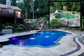 pool patio pavers before after a landscaping transformation in westchester county