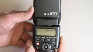 canon 430ex ii speedlite flash youtube