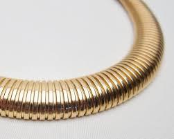 collar gold necklace images Retro era gas pipe necklace retro era serpentine collar jpg