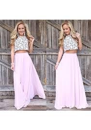 pink draped floor length high waisted casual flowy skirt skirts