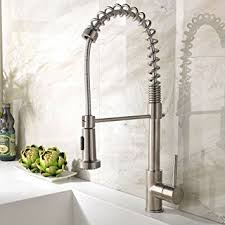 ufaucet best single handle brushed nickel pull out high arch prep