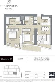 floor plans by address the address residences dubai opera tower 1 tower 2 1 bedroom