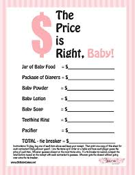 price is right baby shower free printable price is right baby shower baby shower ideas