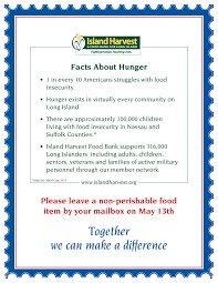 national association of letter carriers food drive island harvest