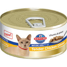 hill u0027s science diet mature tender dinner cat food 1800petmeds