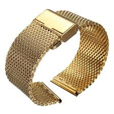 stainless steel bracelet strap images 18 22mm width mens lady watch strap shark mesh chainmail stainless jpg