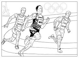 games athletism paris 2024 olympic and sport coloring pages