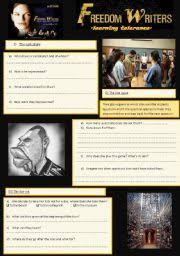 freedom writers diary worksheets freedom writers freedom and
