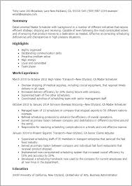 master resume template master resume template master scheduler jobsxs