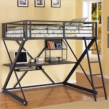 black metal twin loft bed with desk powell furniture z bedroom full size study metal loft bunk bed in
