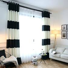 Black And White Blackout Curtains Striped Blackout Curtains Teawing Co