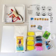 smiley faces diy cake kit birthday cake kit decorating kit
