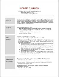 Good Resume Example by Good Resume Objective Resume Templates