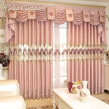 Pink Flower Curtains Helen Curtain Luxury European Embroidered Pink Flower Curtains For