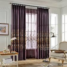 Hotel Room Darkening Curtains 2018 Embroidered Linen Blackout Curtains For Living Room Bedding