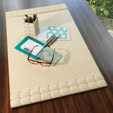 Black Leather Desk Mat Black Leather Desk Pad With Blotter Paper Desks And Hutches For