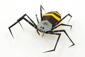 paper model banana spider free template download