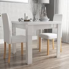 2 Chair Dining Table Vivienne Fliptop White Gloss Dining Table 2 Pu Leather Dining